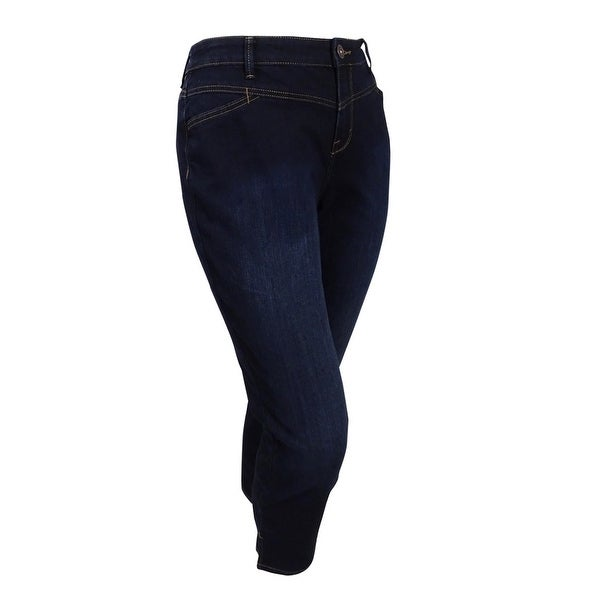 3d8fba2c687 Shop Style   Co. Women s Plus Size Jewel Blue Split Hem Jeans - On Sale -  Free Shipping On Orders Over  45 - Overstock.com - 20564946