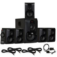 Acoustic Audio AA5301 Bluetooth 5.1 Speaker System Optical Input & 4 Ext Cables