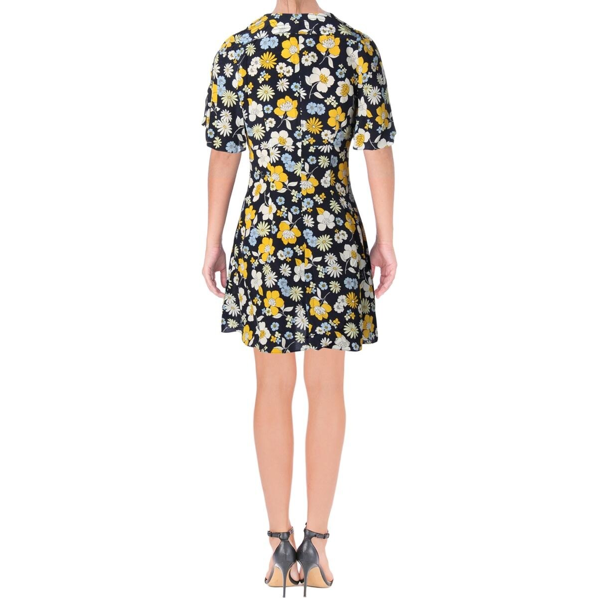 52985dbeeaab7 Shop Juicy Couture Black Label Womens Casual Dress Silk Floral Print - 4 -  Free Shipping On Orders Over $45 - Overstock - 23476269