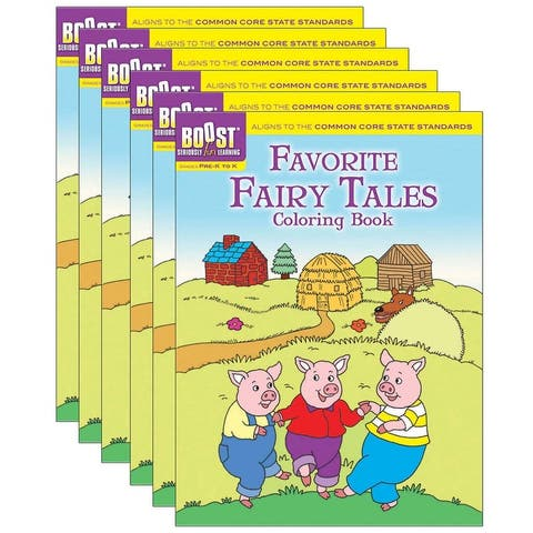 Favorite Fairy Tales Coloring Book, Pack of 6