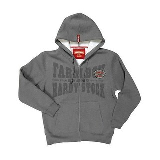 Farm Boy Sweatshirt Mens Hoodie Hardy Zip Sherpa Charcoal F13133011