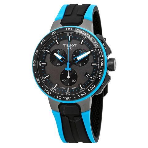 T-Race Cycling Chronograph Black Dial Men's Watch - N/A