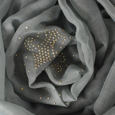 Peach Couture Classic Glittering Sparkle Studded Scarf Shawl Wrap