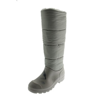 Dirty Laundry Womens Paz Rain Boots Puffy Knee-High