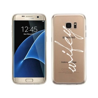 Samsung Galaxy S7 Edge Transparent Cute Couple Matching Phone Cover (Wifey)