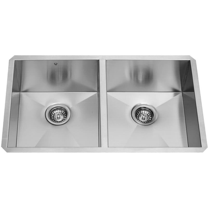 Vigo Vg3219a 32 Double Basin Undermount Kitchen Sink With Cutting Board Overstock 22052268