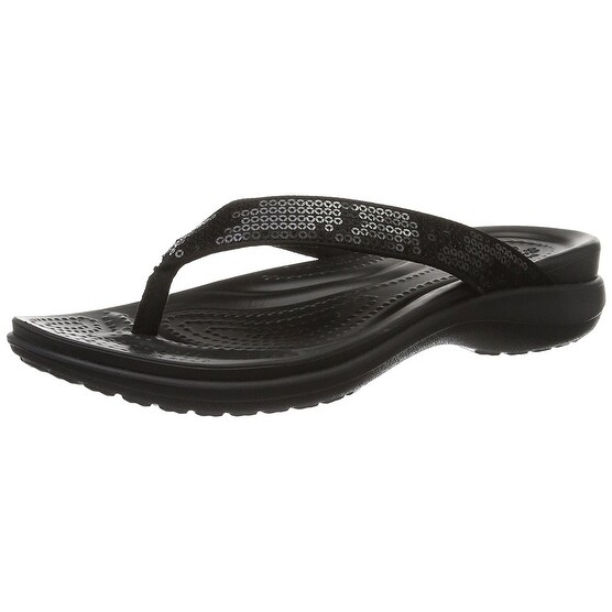 d413a994b65ee Shop crocs Women s Capri V Sequin Flip - Free Shipping On Orders Over  45 -  Overstock - 20354440