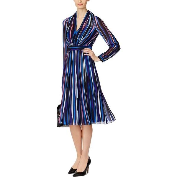 982b4a02aaa6f Shop Anne Klein Womens Wear to Work Dress Striped Long Sleeve - Free ...