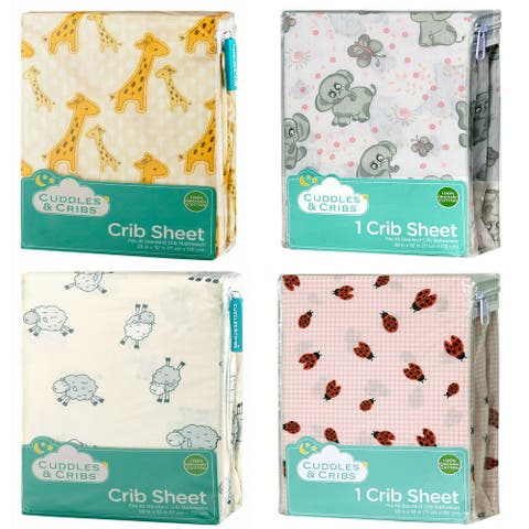 Cuddles & Cribs 1 Pack Natural GOTS Certified Cotton Fitted Crib Sheet - 28 x 52 Inch