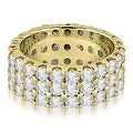 4.85 cttw. 14K Yellow Gold Round Diamond Three Row Eternity Ring - Thumbnail 0