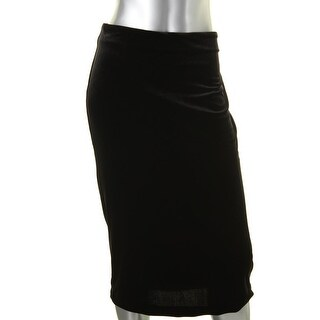 Vince Camuto Womens Pencil Skirt Velvet Midi