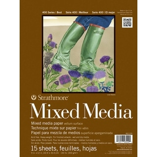 Strathmore 400 Series Mixed Media Pad, 9 x 12 in, 15 Sheets