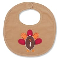 Football Shaped Turkey Appliqued Baby Toddler Bib