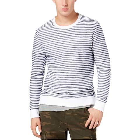 American Rag Mens Layered Sweatshirt, Blue, X-Large
