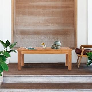 Shop Chic Teak Fish Outdoor Teak Wood Folding Picnic Table ...