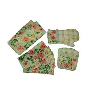 Laura Ashley Floral 10 Piece Kitchen Accessory Set