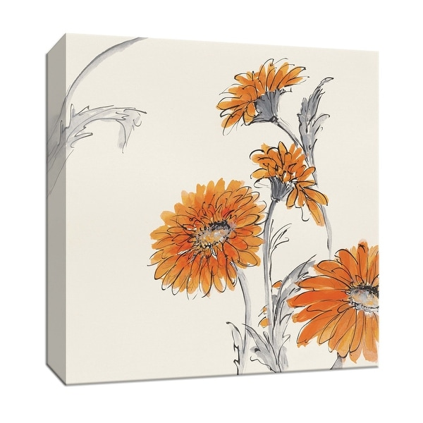 """PTM Images 9-153266 PTM Canvas Collection 12"""" x 12"""" - """"Orange Gerbera I"""" Giclee Flowers Art Print on Canvas"""