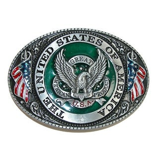 CTM® USA American Eagle Belt Buckle - Silver - One Size