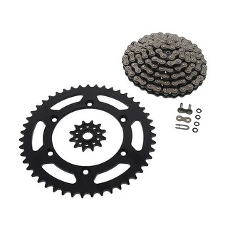 X-Ring Chain 120L ORH and 12/47 Black Sprocket Suzuki RM-Z250 2007 - 2009 by CZ