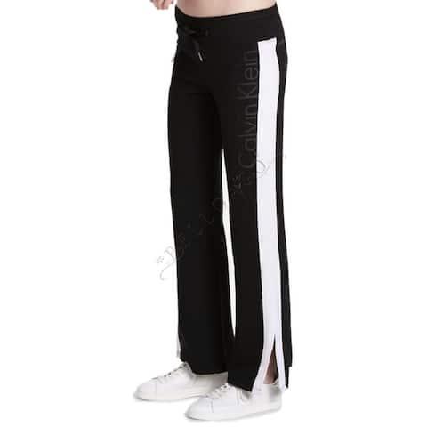 Calvin Klein Performance Women's Vented-hem Track Pants, Black (XL)