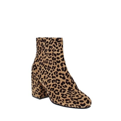 Bar Iii Gatlin Block Heel Booties Leopard