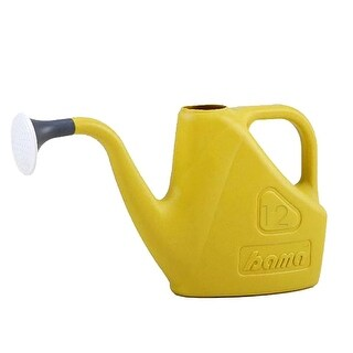 Bama Classic Plastic Watering Can with Easy Grip Handle, 12 Liters