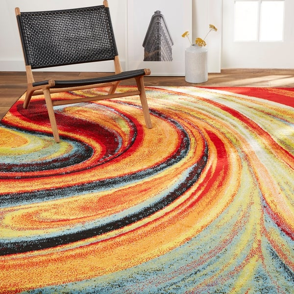 Home Dynamix Splash Adja Contemporary Abstract Area Rug. Opens flyout.