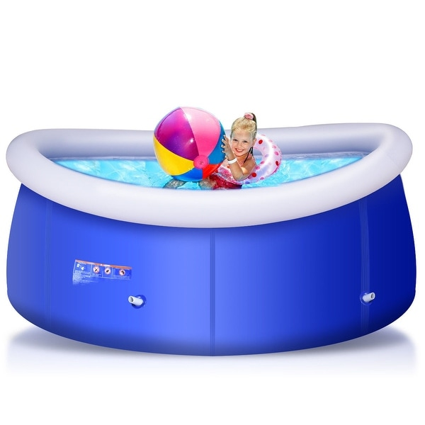 Shop costway giant inflatable above ground swimming pool - Inflatable quick set swimming pool ...