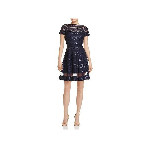 626c8ecd21d Shop Tadashi Shoji Womens Special Occasion Dress Short Sleeves Knee ...