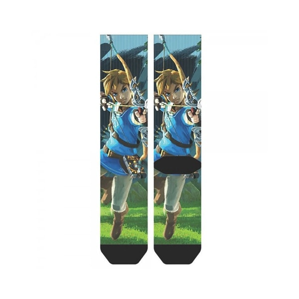 Zelda Breath of the Wild Sublimated Crew Socks
