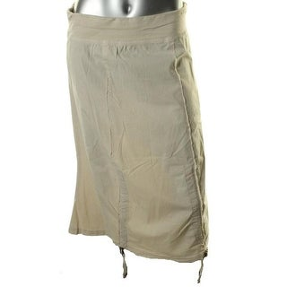 XCVI Womens Hi-Low Seamed A-Line Skirt - S