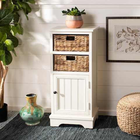 Safavieh Connery Distressed White Cabinet