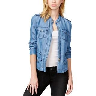 Guess Womens Jacket Tencel Long Sleeves - l