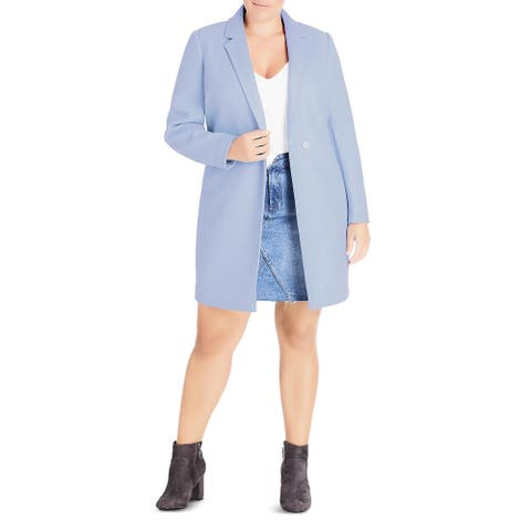 City Chic Womens Plus Coat Winter Mid-Length