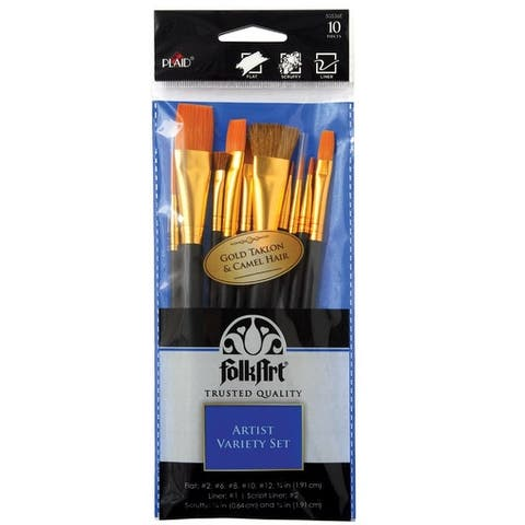 Plaid 50536E FolkArt Paint Brush Set, Multiple Sizes