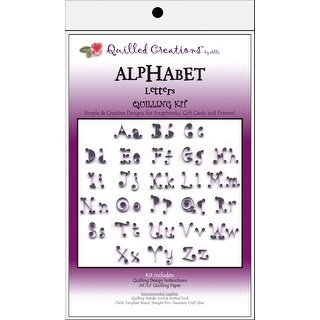Quilling Kit-Alphabet Letters