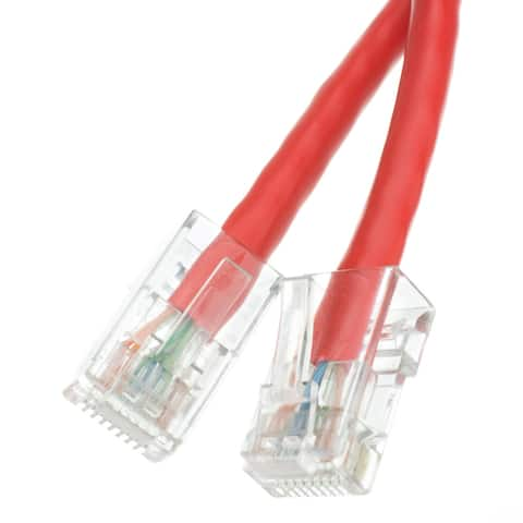 Offex Cat5e Red Ethernet Patch Cable, Bootless, 14 foot