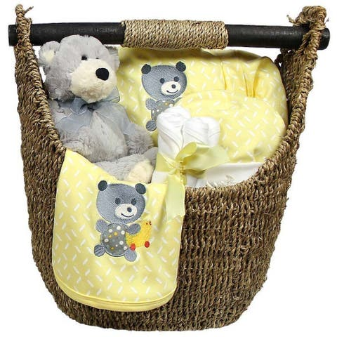Raindrops Unisex Baby Welcome Home 9-Piece Gift Set Yellow, 3-6M - One Size
