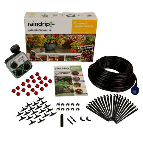 Raindrip R560DP Container & Hanging Basket Automatic Watering Kit with Timer