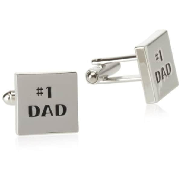 Geoffrey Beene Mens #1 DAD T-Shape Cufflinks Brass Embossed