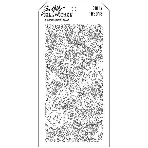 "Tim Holtz Layered Stencil 4.125""X8.5""-Doily"