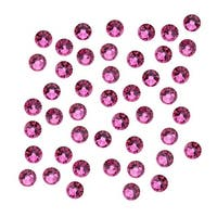 Swarovski Elements Crystal, Round Flatback Rhinestone SS16 3.8mm, 50 Pieces, Fuchsia