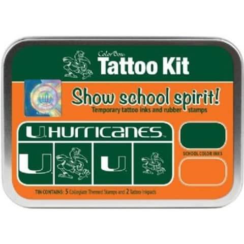 Clearsnap CS19611 University of Miami Collegiate Tattoo Kit