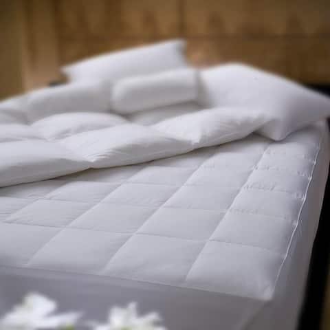 1221 Bedding Supreme Mattress Pad - CLOSEOUT - White