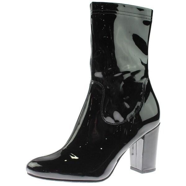 Kenneth Cole New York Alyssa Patent Boot Womens Black