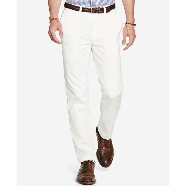 Ghurka, 36X34 Polo Ralph Lauren Mens Slim Fit Flat Front Chino