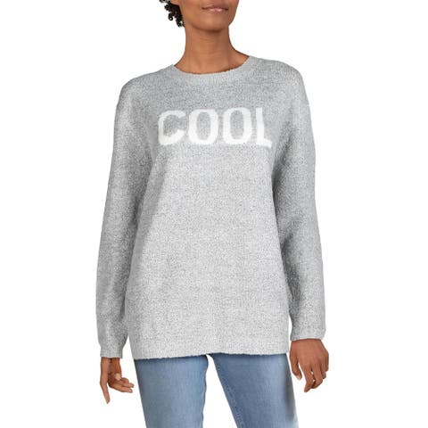 RD Style Womens Cool Sweater Graphic Crewneck - Sesame