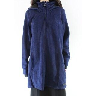 Calvin Klein Blue Hooded Women's Size 1X Plus Sweater Jacket