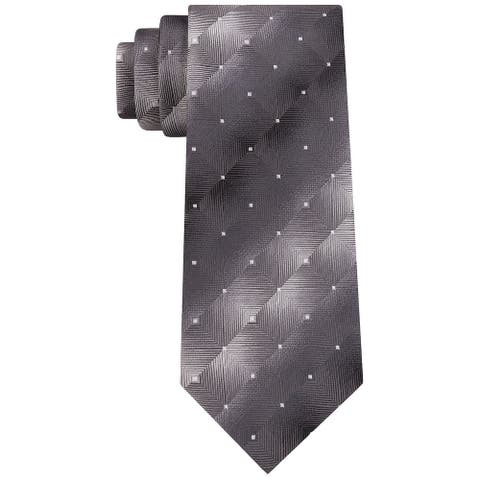Van Heusen Men's Pizarroso Geo Tie Black Size Regular