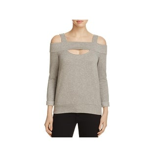 Bailey 44 Womens Pullover Sweater Heathered Cold Shoulder (2 options available)